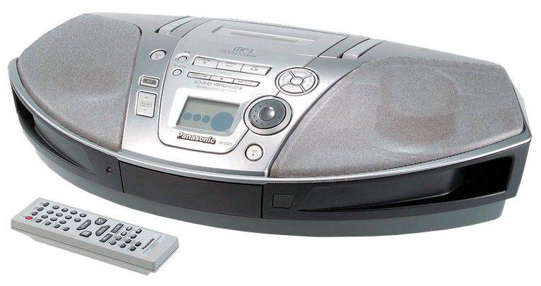 Аудиомагнитола PANASONIC RX-ES23EE-S,  серебристый