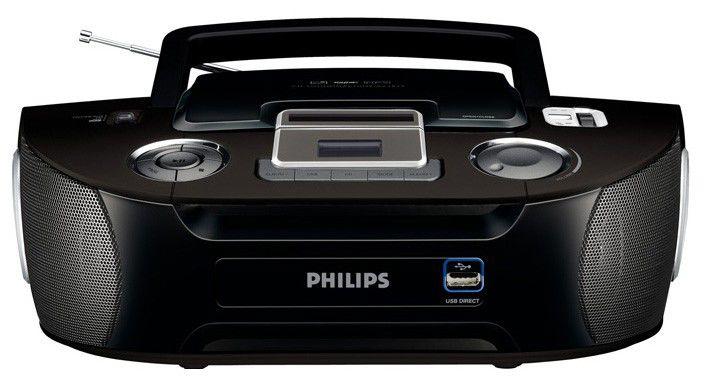 Аудиомагнитола PHILIPS AZ-1834/12,  черный