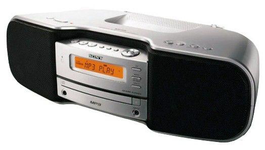 Аудиомагнитола SONY ZS-S50CP,  серый