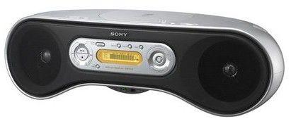 Аудиомагнитола SONY ZS-SN10L,  серебристый и черный
