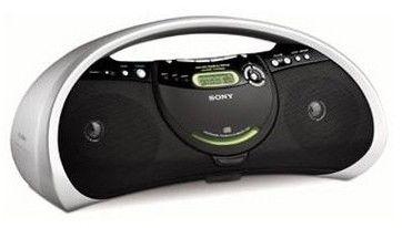 Аудиомагнитола SONY ZS-YN7L/В,  серебристый и черный