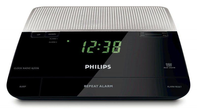 Радиобудильник PHILIPS AJ3226, черный