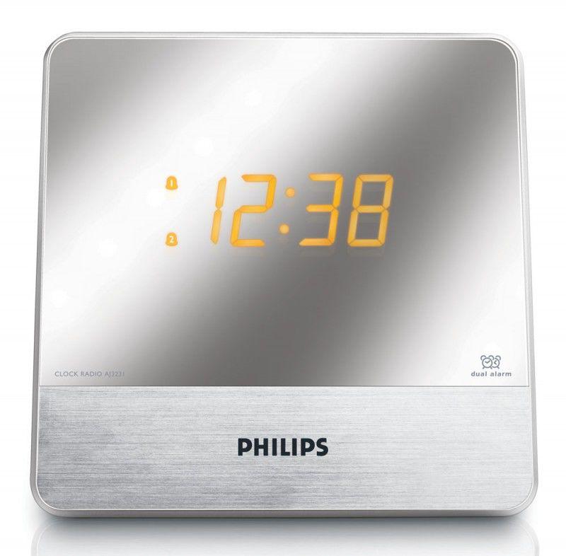 Радиобудильник PHILIPS AJ3231, серебристый