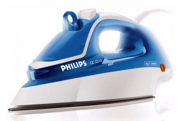 Утюг PHILIPS GC2510,  2000Вт,  белый/ голубой