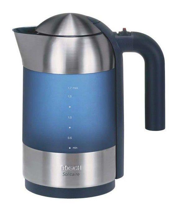 Чайник электрический BOSCH TWK8SL1, 2400Вт, голубой и серебристый