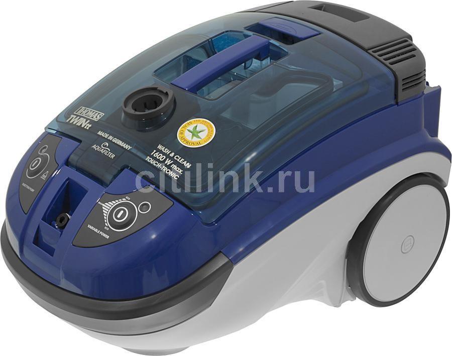 Моющий пылесос THOMAS Twin TT Aquafilter, 1600Вт, синий/серый