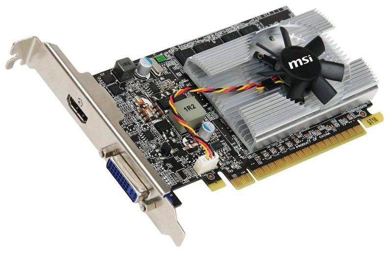 Видеокарта MSI GeForce 210, VN210-MD512,  512Мб, DDR2, Low Profile,  Ret