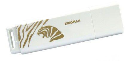 Флешка USB KINGMAX Super Stick 2010 Tiger 8Гб, USB2.0, белый и золотистый