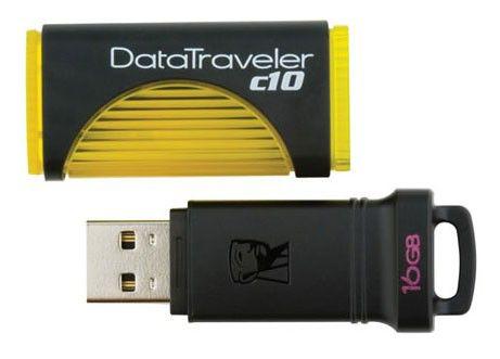 Флешка USB KINGSTON DataTraveler C10 16Гб, USB2.0, желтый и черный [dtc10/16gb]
