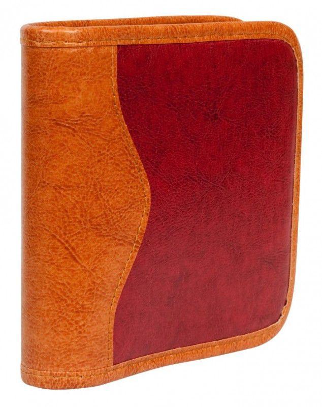 Портмоне  JP-9, бордовый+коричневый, для 24 дисков