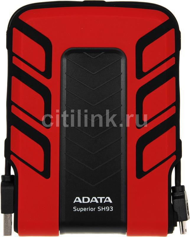 Внешний жесткий диск A-DATA Superior SH93, 320Гб, красный [ash93-320gu-crd]