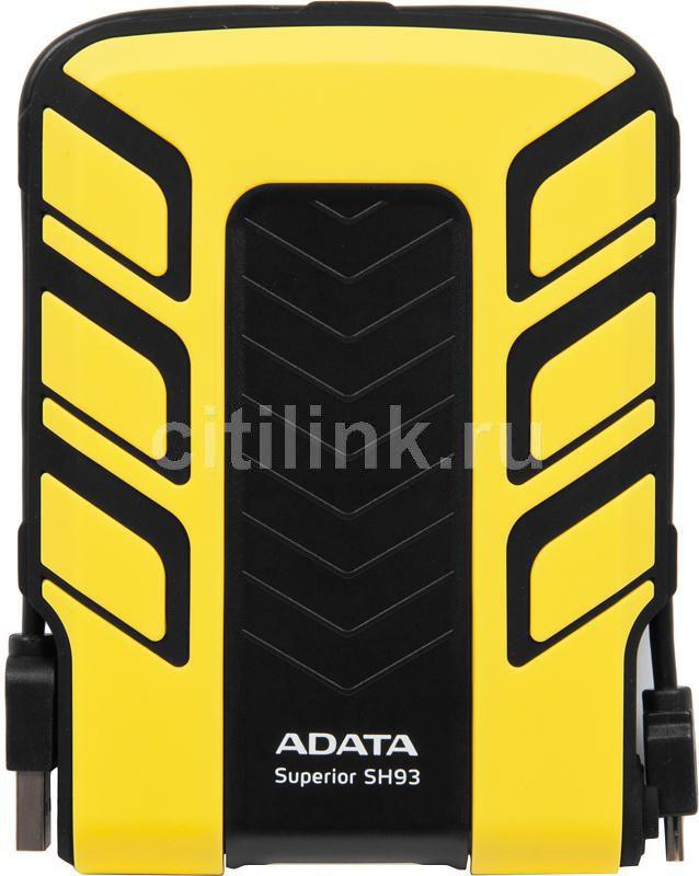 Внешний жесткий диск A-DATA Superior SH93, 500Гб, желтый [ash93-500gu-cyl]