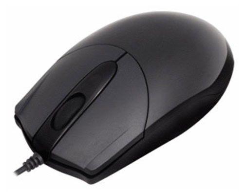 Мышь A4 OP-200Q оптическая проводная USB, черный