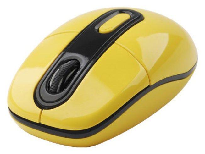 Мышь A4 G7-300-3 оптическая беспроводная USB, желтый