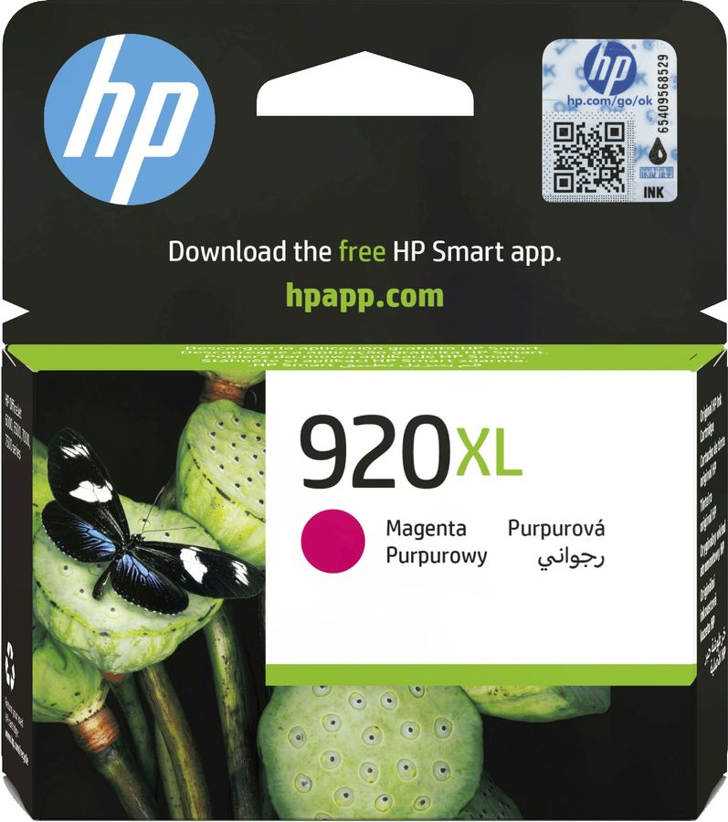 Картридж HP 920XL пурпурный [cd973ae] картридж струйный hp 920xl cd973ae пурпурный для hp oj 6000 6500 700стр