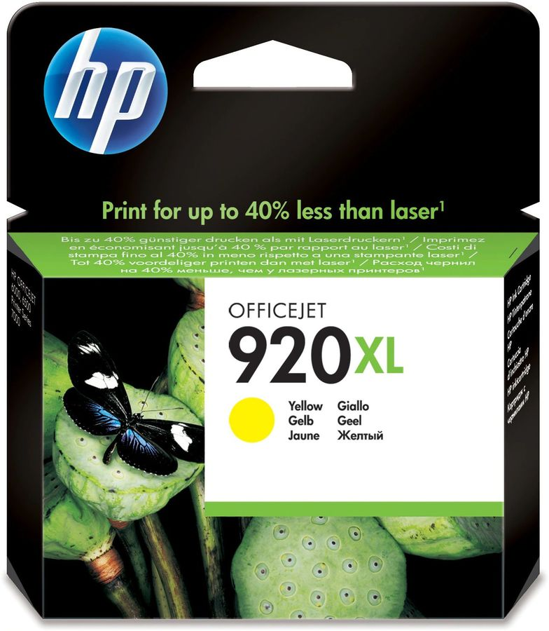 Картридж HP 920XL CD974AE,  желтый
