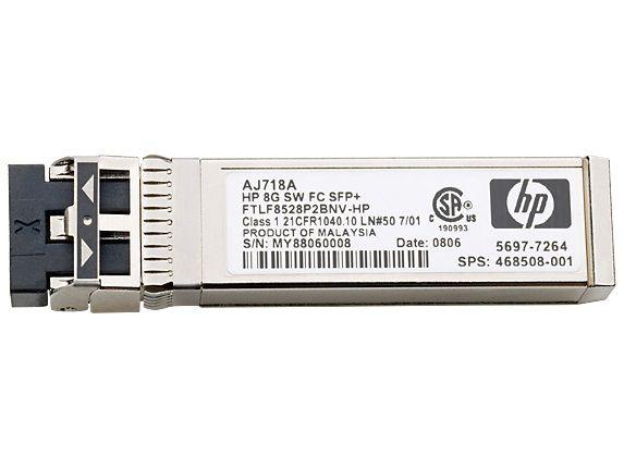 Трансивер HPE 8Gb Short Wave FC SFP+ 1pack (AJ718A)