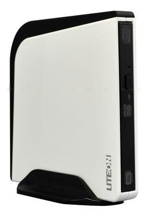 Оптический привод DVD-RW LITE-ON eSAU108-46, внешний, USB, белый,  Ret