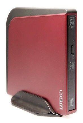 Оптический привод DVD-RW LITE-ON eSAU108-76, внешний, USB, красный,  Ret