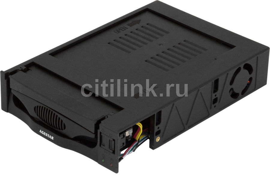Mobile rack (салазки) для HDD AGESTAR MR3-SATA(SW)-3F, черный orico 1109ss 3 5 hdd mobile rack