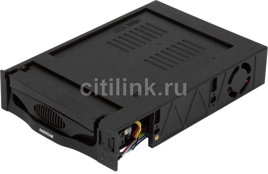 Mobile rack (салазки) для  HDD AGESTAR MR3-SATA(SW)-3F, черный