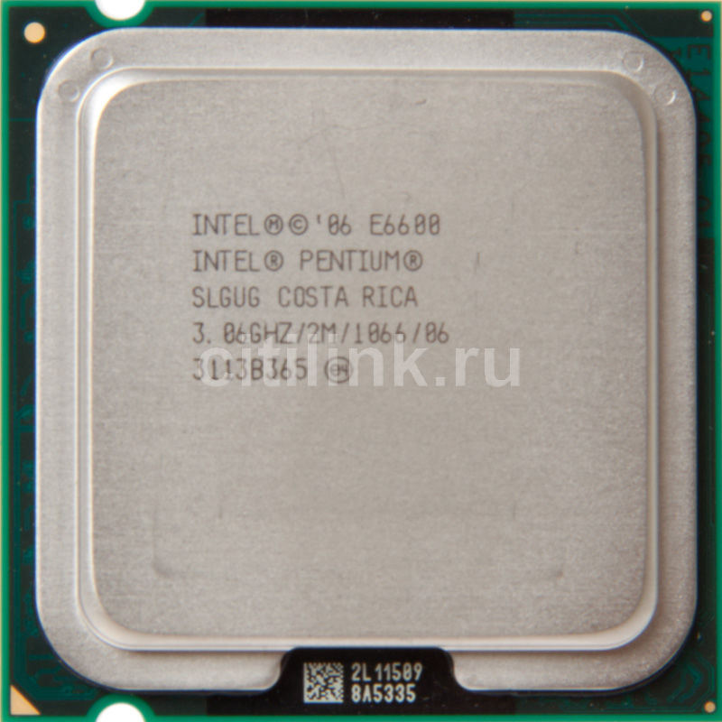Процессор INTEL Pentium Dual-Core E6600, LGA 775 OEM [at80571ph0832mls lgug]