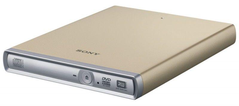 Оптический привод DVD-RW SONY DRX-S70U-W/N, внешний, USB, золотистый,  Ret