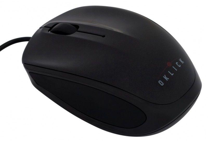 Мышь OKLICK 530S оптическая проводная USB, черный [b232]