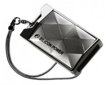 Флешка USB SILICON POWER Touch 850 16Гб, USB2.0, серебристый [sp016gbuf2850v1t]