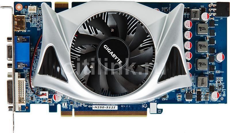 Видеокарта GIGABYTE GeForce GTS 250,  512Мб, GDDR3, Ret [gv-n250-512i]