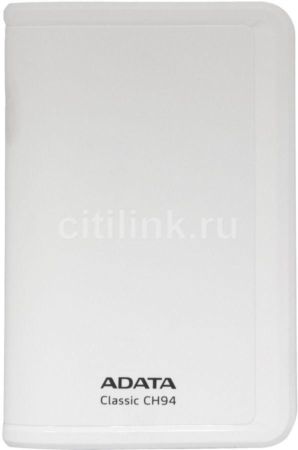 Внешний жесткий диск A-DATA Classic CH94, 320Гб, белый [ach94-320gu-cwh]