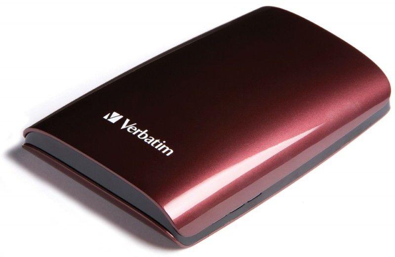 Внешний жесткий диск VERBATIM Executive 500Гб, красный [47587]