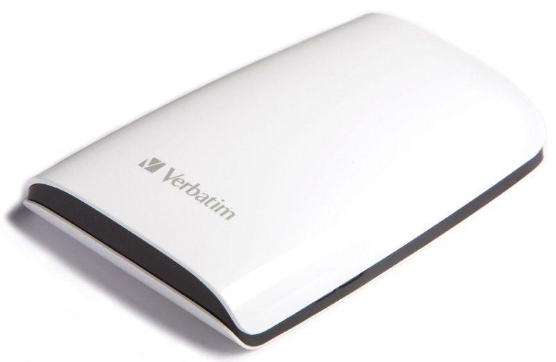 Внешний жесткий диск VERBATIM Executive 500Гб, белый [47589]