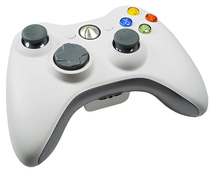 Беспроводной контроллер MICROSOFT Xbox 360, белый [m59-00084 - q12-00076]