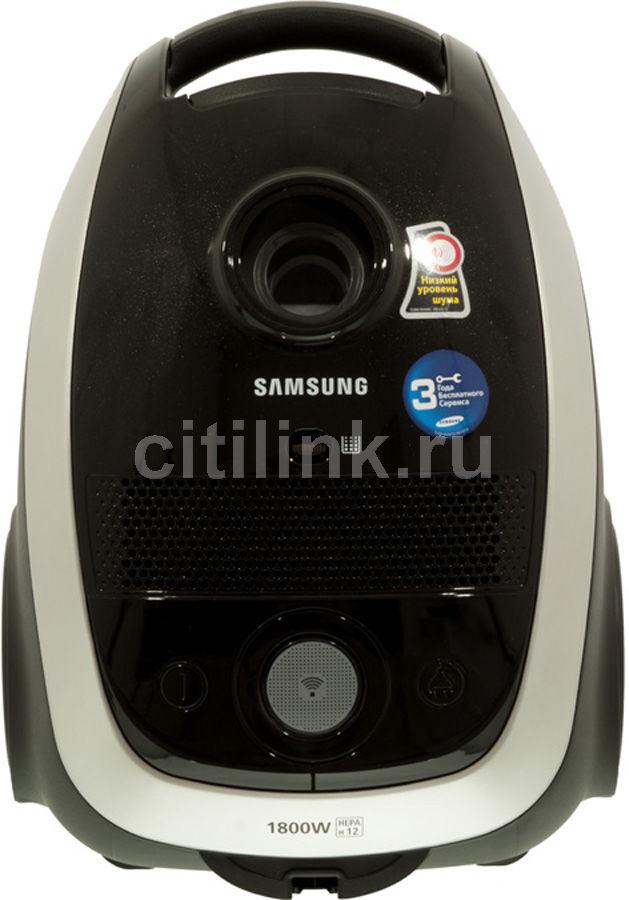 Пылесос SAMSUNG SC6161, 1800Вт, черный/серый