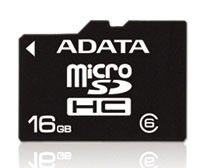 Карта памяти microSDHC A-DATA 16 ГБ, Class 6, AUSDH16GCL6-R,  1 шт.