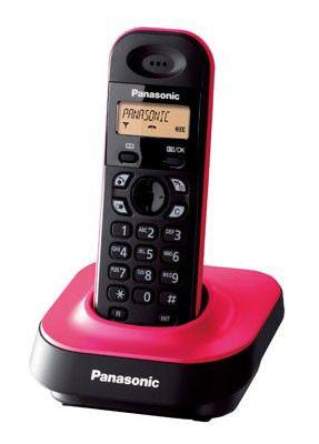 Радиотелефон PANASONIC KX-TG1401RUP,  розовый и черный