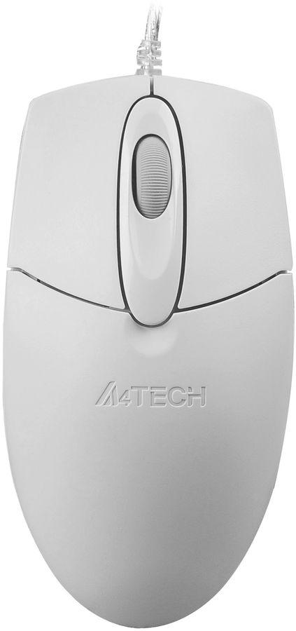 Мышь A4 OP-720, оптическая, проводная, USB, белый [op-720 usb (white)]