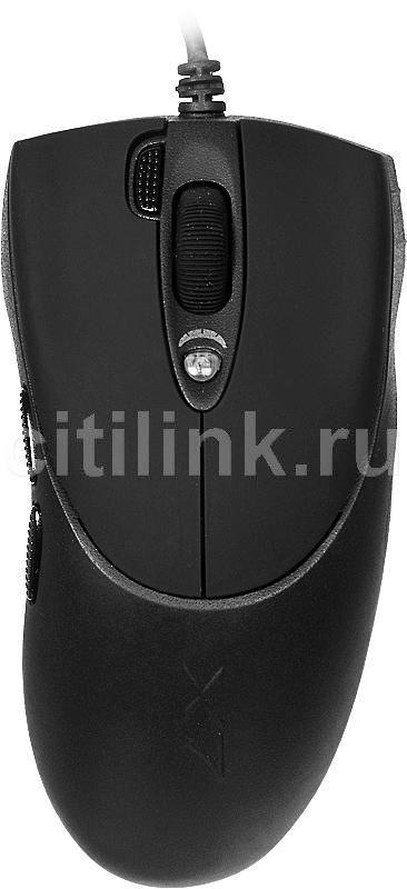 Мышь A4 XL-730K лазерная проводная USB, черный [xl-730kusb]