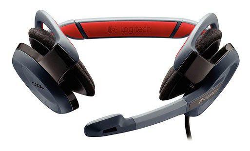 Наушники с микрофоном LOGITECH G330 Gaming Headset,  981-000177,  накладные, красный  / серый