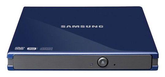 Оптический привод DVD-RW SAMSUNG SE-S084C/TSLS, внешний, USB, синий,  Ret