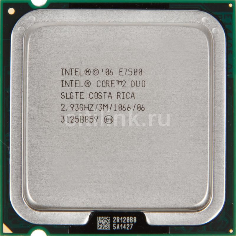 Процессор INTEL Core 2 Duo E7500, LGA 775 OEM [cpu intel  l775 c2d e7500 oem]