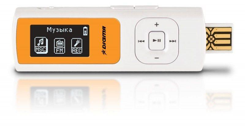 MP3 плеер DIGMA MP610 flash 8Гб белый [mp610 8gb]