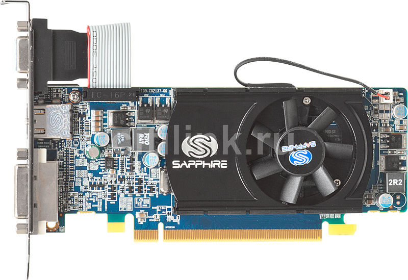 Видеокарта SAPPHIRE HD5570,  11167-00-10R,  1Гб, DDR3, Low Profile,  oem