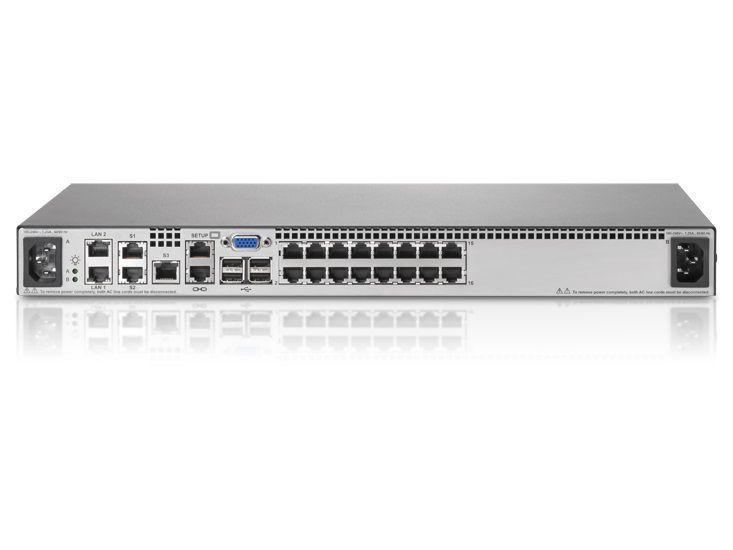 Переключатель HPE 2x1Ex16 KVM IP Cnsl G2 VM CAC SW (AF621A)