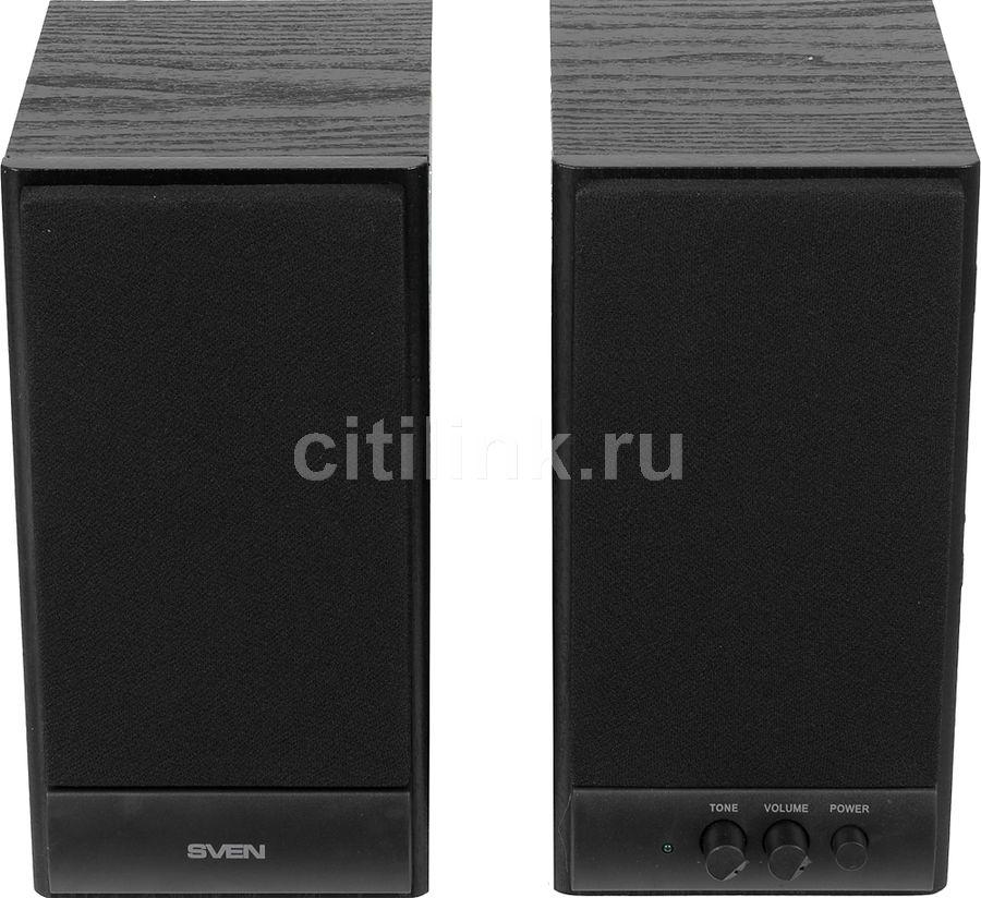 Колонки SVEN SPS-609,  2.0,  черный [sv-0120609bk]