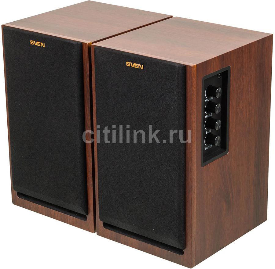Колонки SVEN SPS-700,  коричневый,  орех [sv-0120700wn]