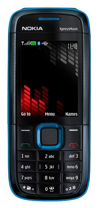 Музыкальный телефон NOKIA 5130 + MD9  синий