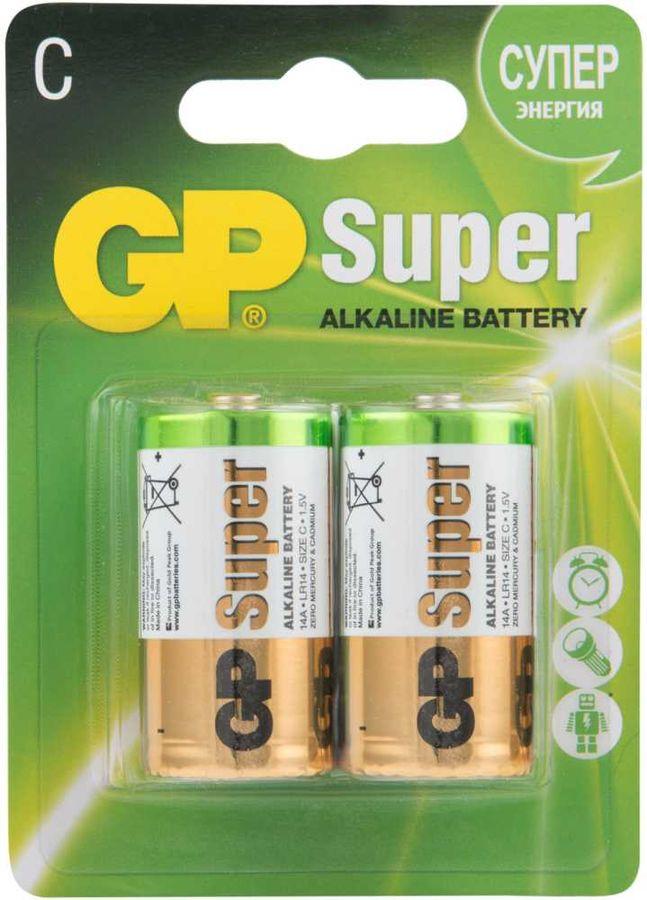 Батарея GP Super Alkaline 14A LR14,  2 шт. C