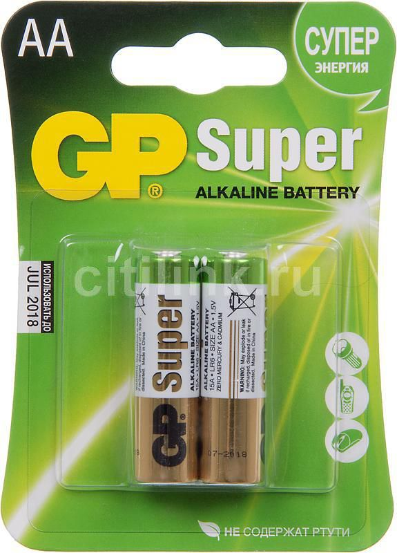 AA Батарейка GP Super Alkaline 15A LR6,  2 шт.